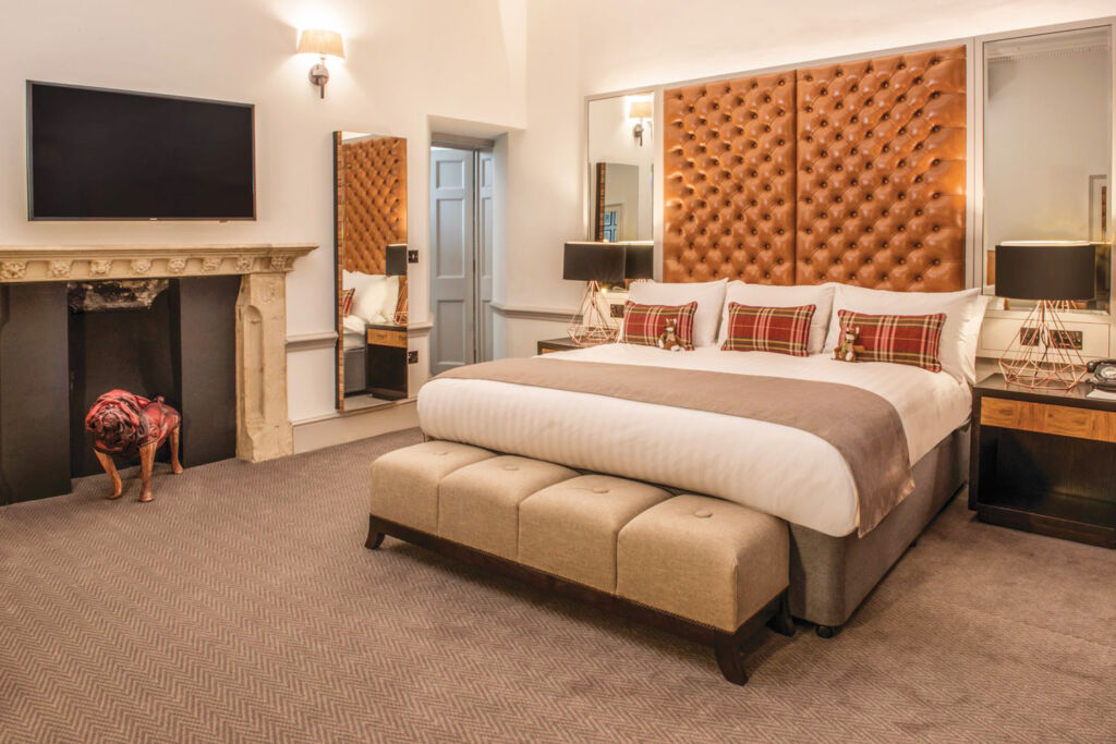 A view inside one of the newly-decorated luxury bedroom suites
