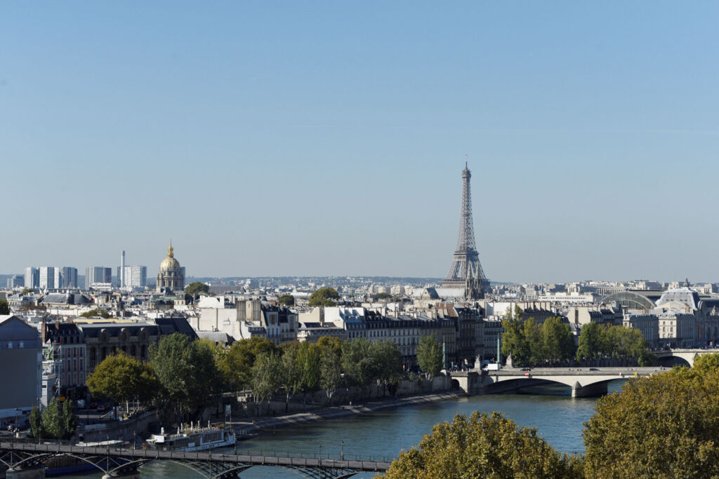 A view over Paris looking towards the Eiffel Tower
