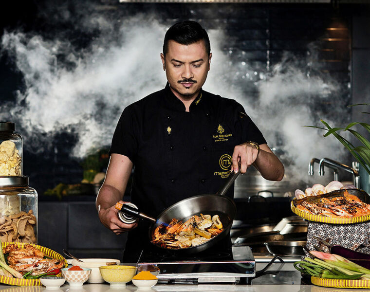 Datuk Chef Fazley Yaakob cooking a Ramadam Feast