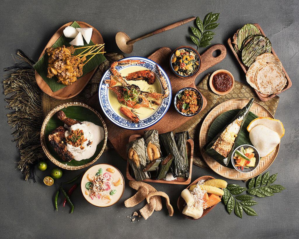 Four Seasons Hotel Kuala Ramadam Feast laid out on a table Lumpur