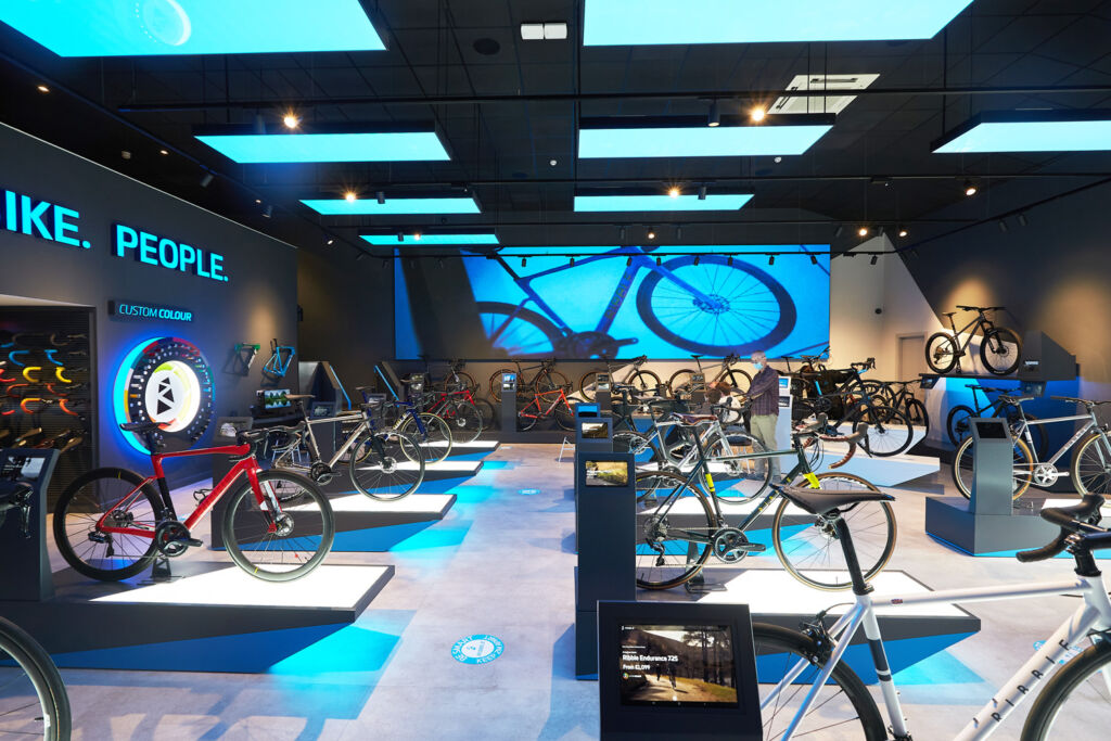 Inside the brand new Ribble Cycles showroom in Clitheroe