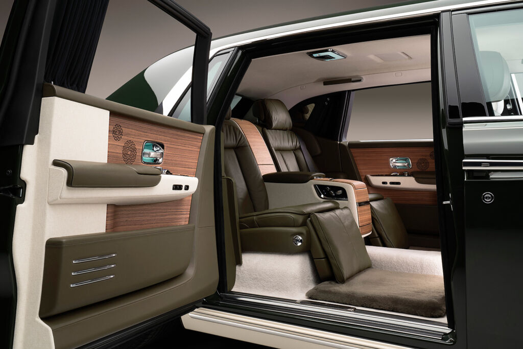 A view inside the rear of the Rolls Royce Phantom Oribe