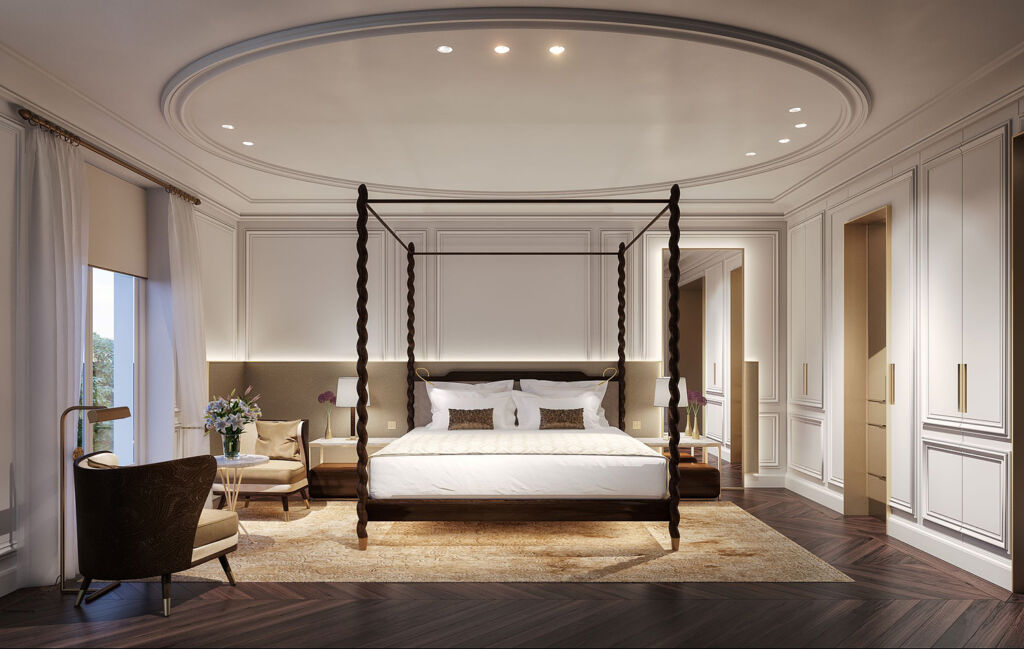 Inside a deluxe room at the Mandarin Oriental Madrid