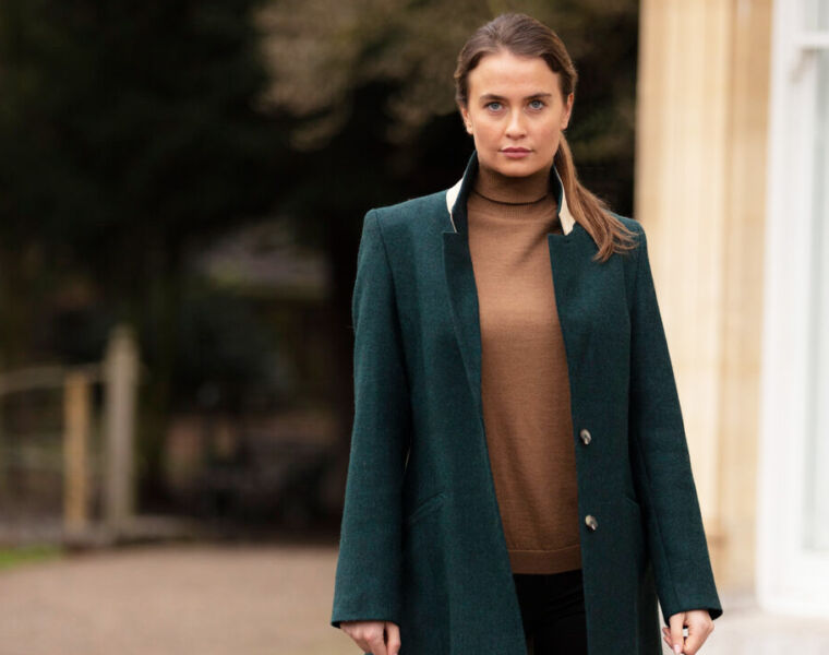 Frimble's Beautiful Teal Wentworth Jacket is Perfect Summer Attire