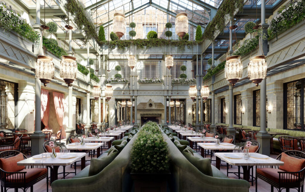 The Atrium at NoMad London, image courtesy of the Sydell Group