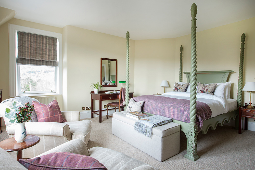 Inside one of the luxury bedroom suites at the hotel