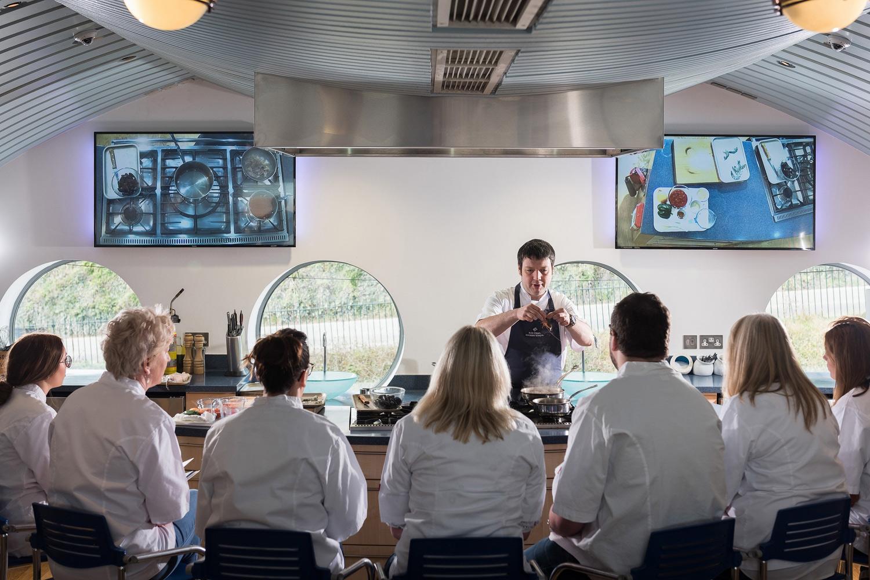Aspiring chefs in the cookery school