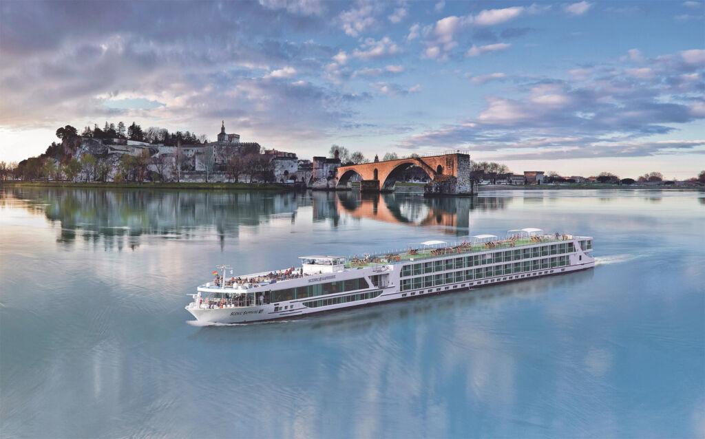 Scenic Sapphire sailing through Avignon in France