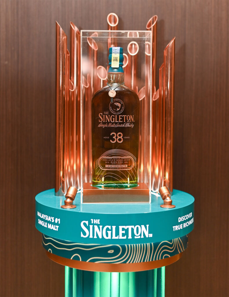 Singleton 38 Year Old in a display case