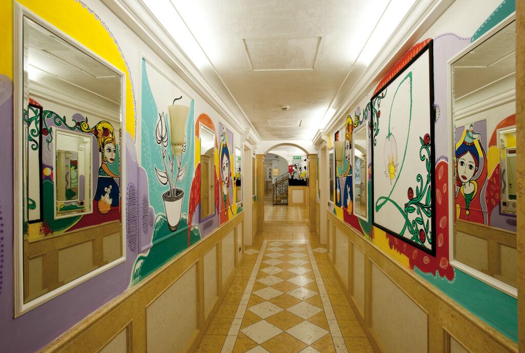 Some of the artwork on display at Byblos Art Hotel Villa Amistà