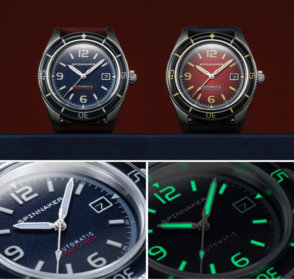 Montage showing the dial luminosity - day and night