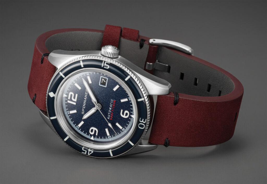 Spinnaker Watches Fleuss timepiece in Prussian Blue