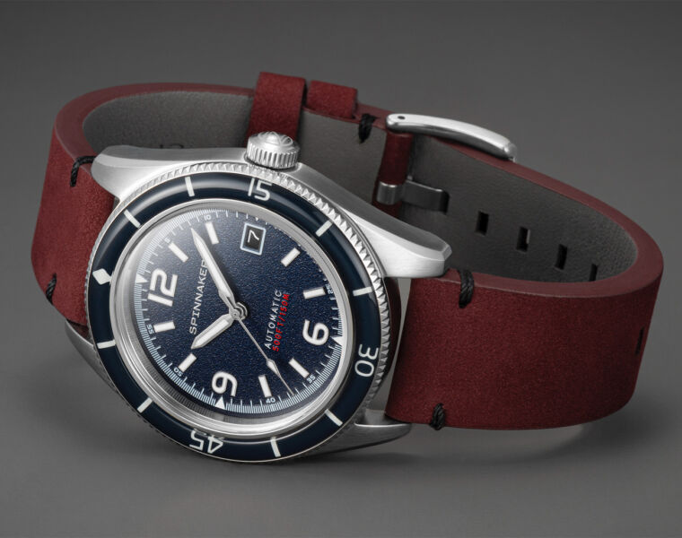 Spinnaker Watches Fleuss timepiece in Prussian Blue
