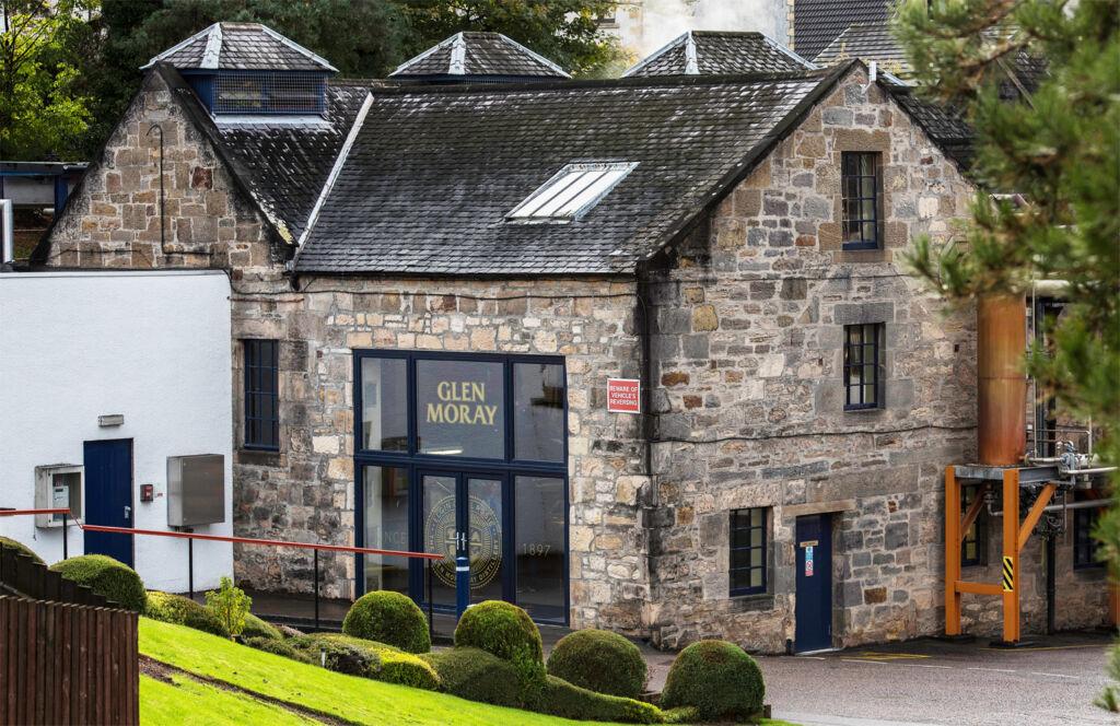 The Glen Moray Distillery building in Scotland
