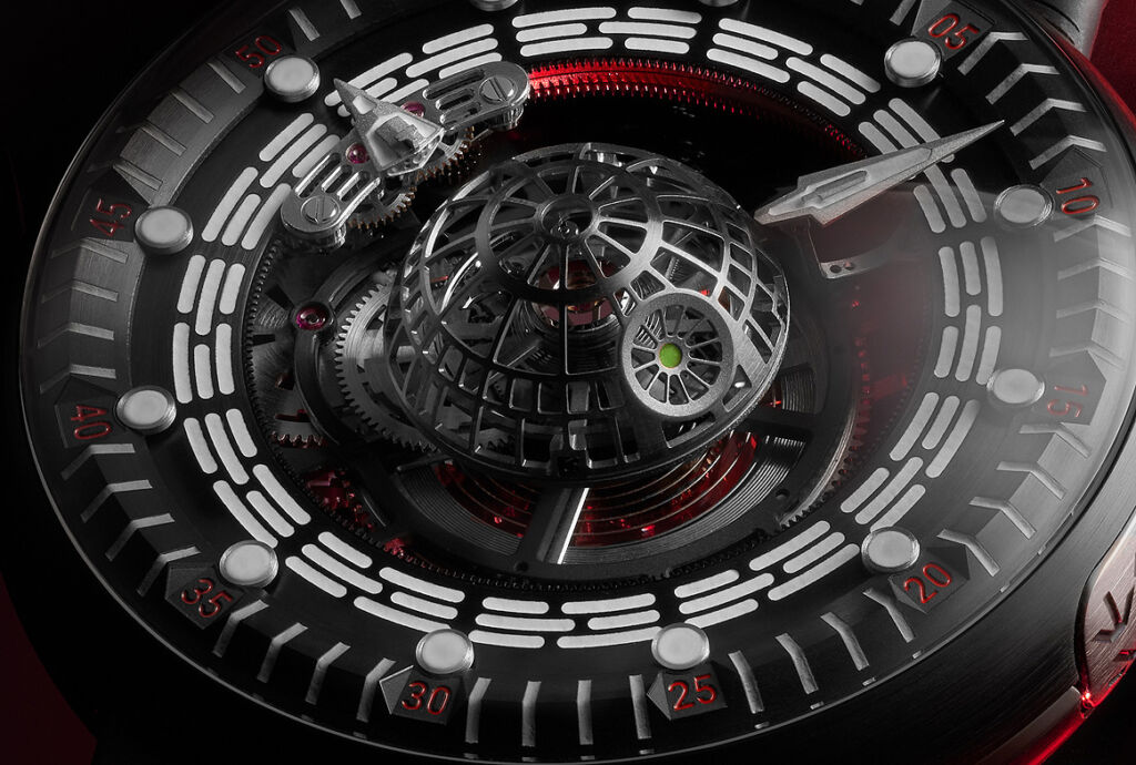 The Kross Studio Death Star Tourbillon watch cage