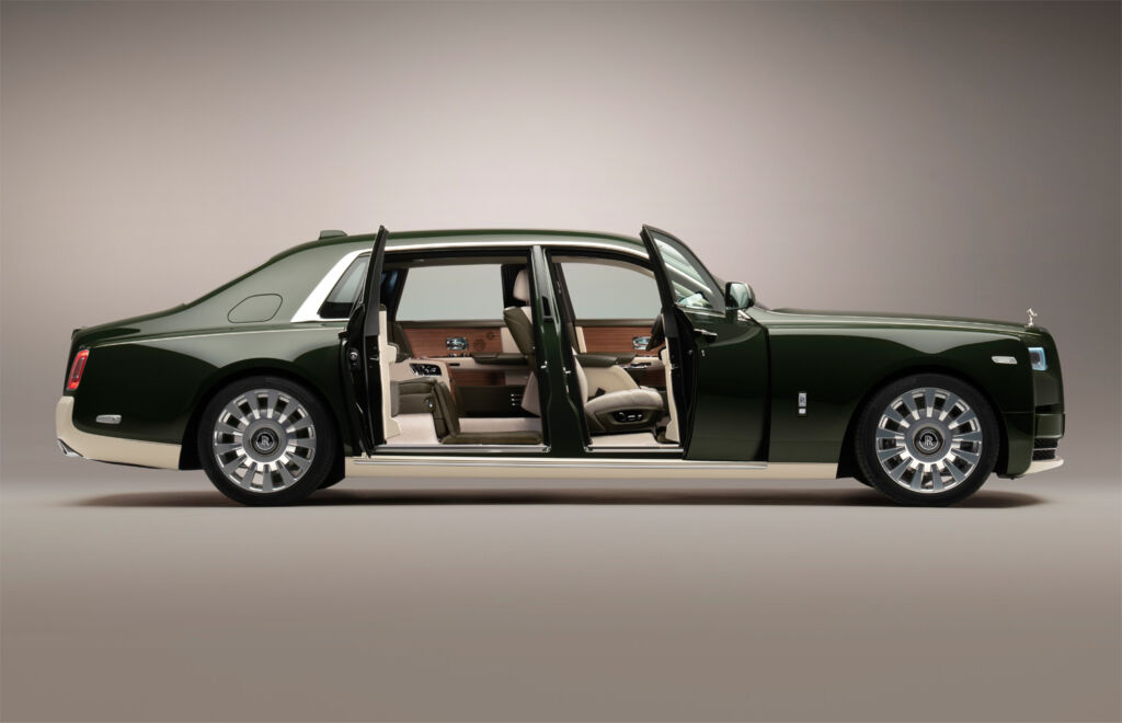 The Rolls Royce Phantom Oribe with all the doors open