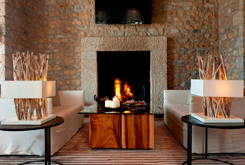 A view of the lounge at the Westin Costa Navarino