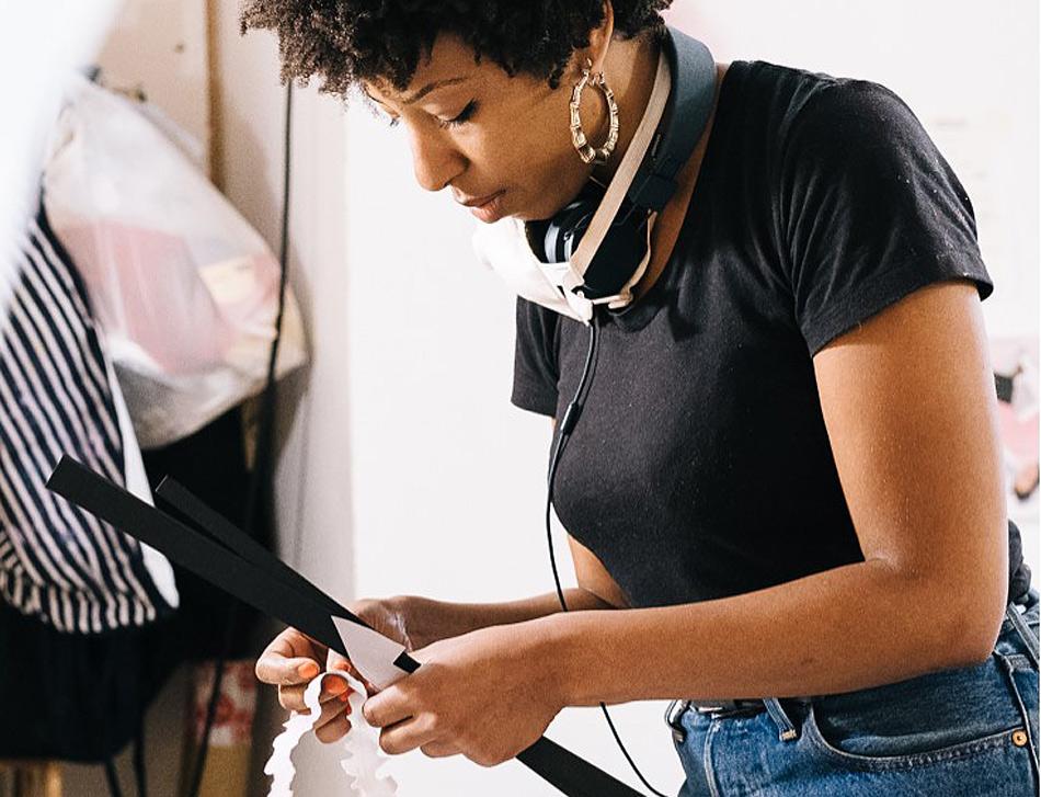 The artist Cherelle Sappleton in her studio