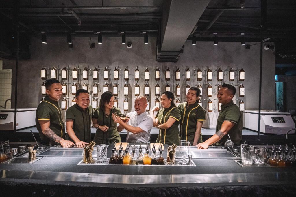 The bar team at Penicillin