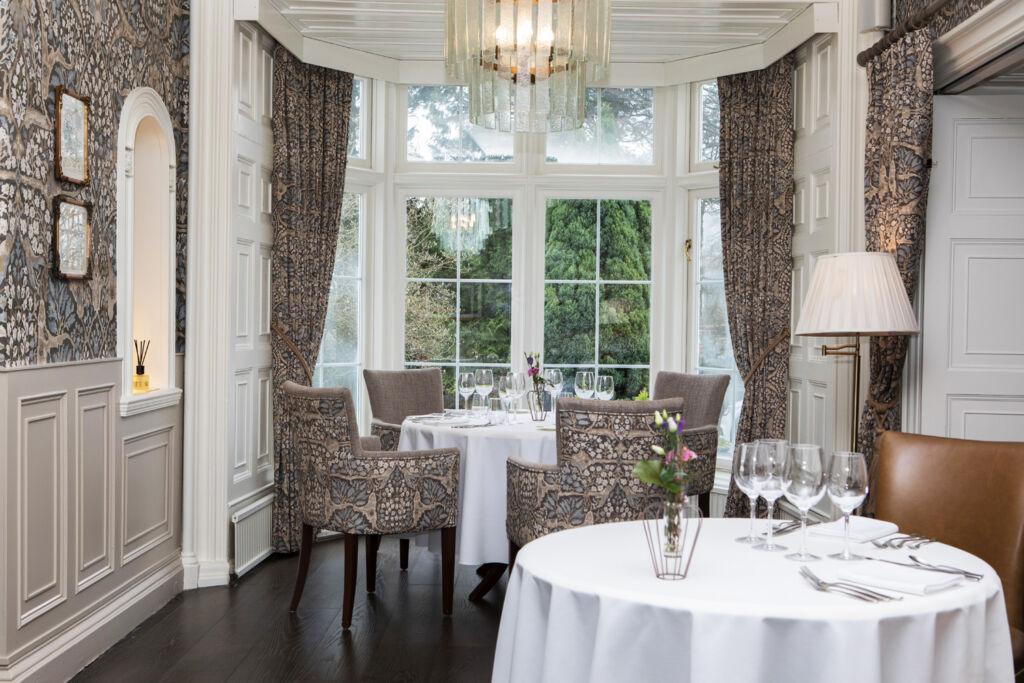 The dining room at Rothay Manor
