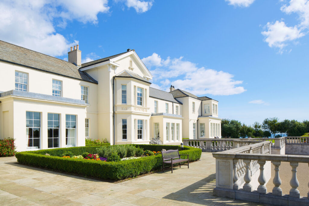 The exterior and grounds of Seaham Hall
