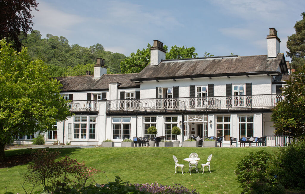 The beautiful facade of Rothay Manor in Ambleside