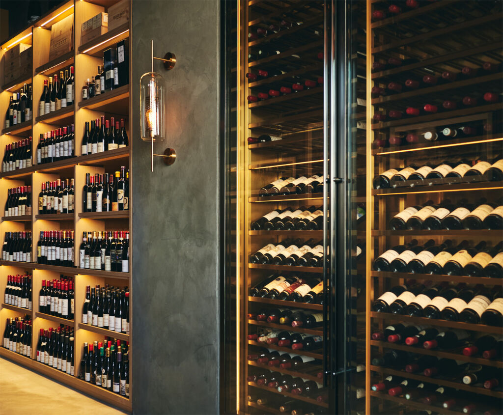 The huge selection of wine they have to offer guests and patrons