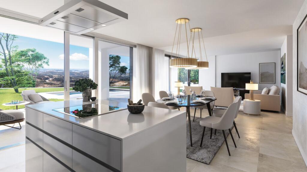 The interior of a luxury villa in Marbella