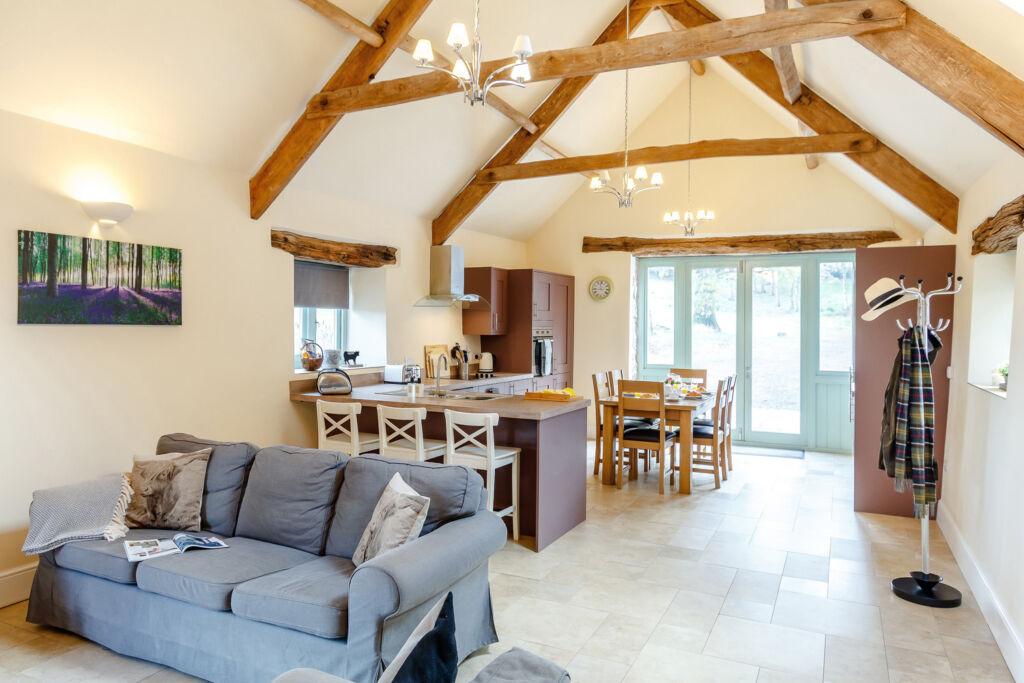 The living area inside the Udder Barn