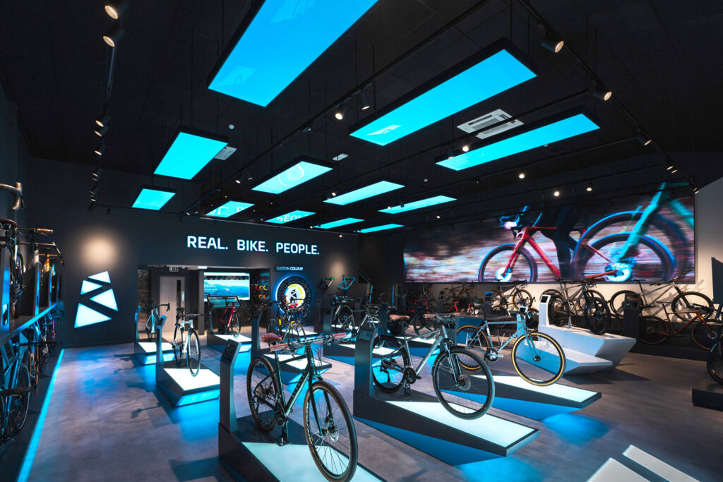 Theres no shortage of wow factor inside Ribble Cycles showroom