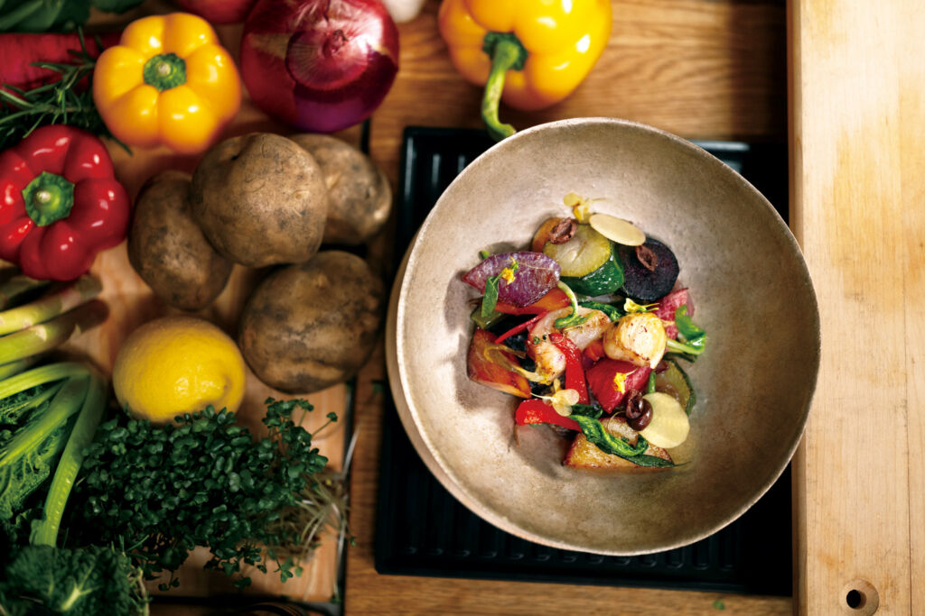 Unleashing the full flavour of natural produce on a plate