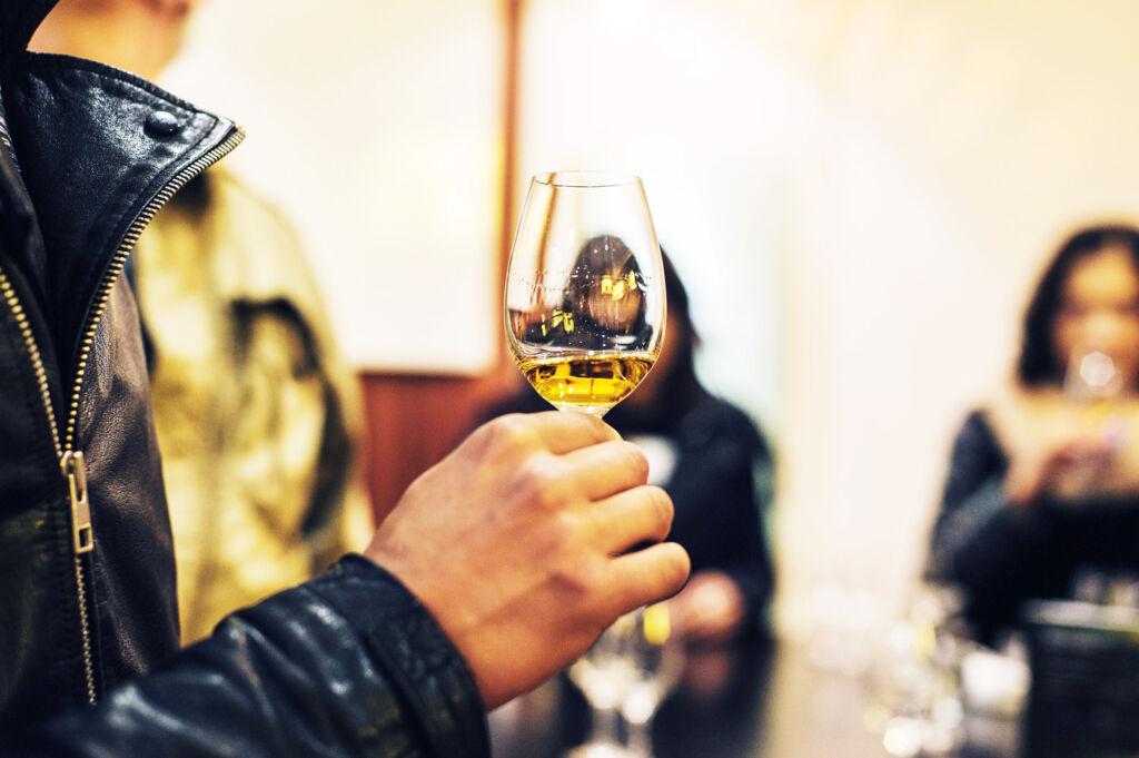Whisky tasting at a Scottish distillery