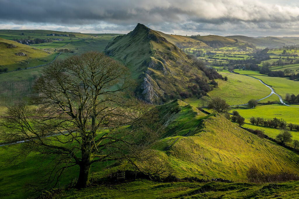A beautiful view over the Peak District