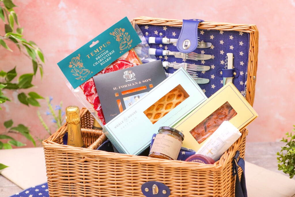A picnic hamper stocked with goodies from Noble House