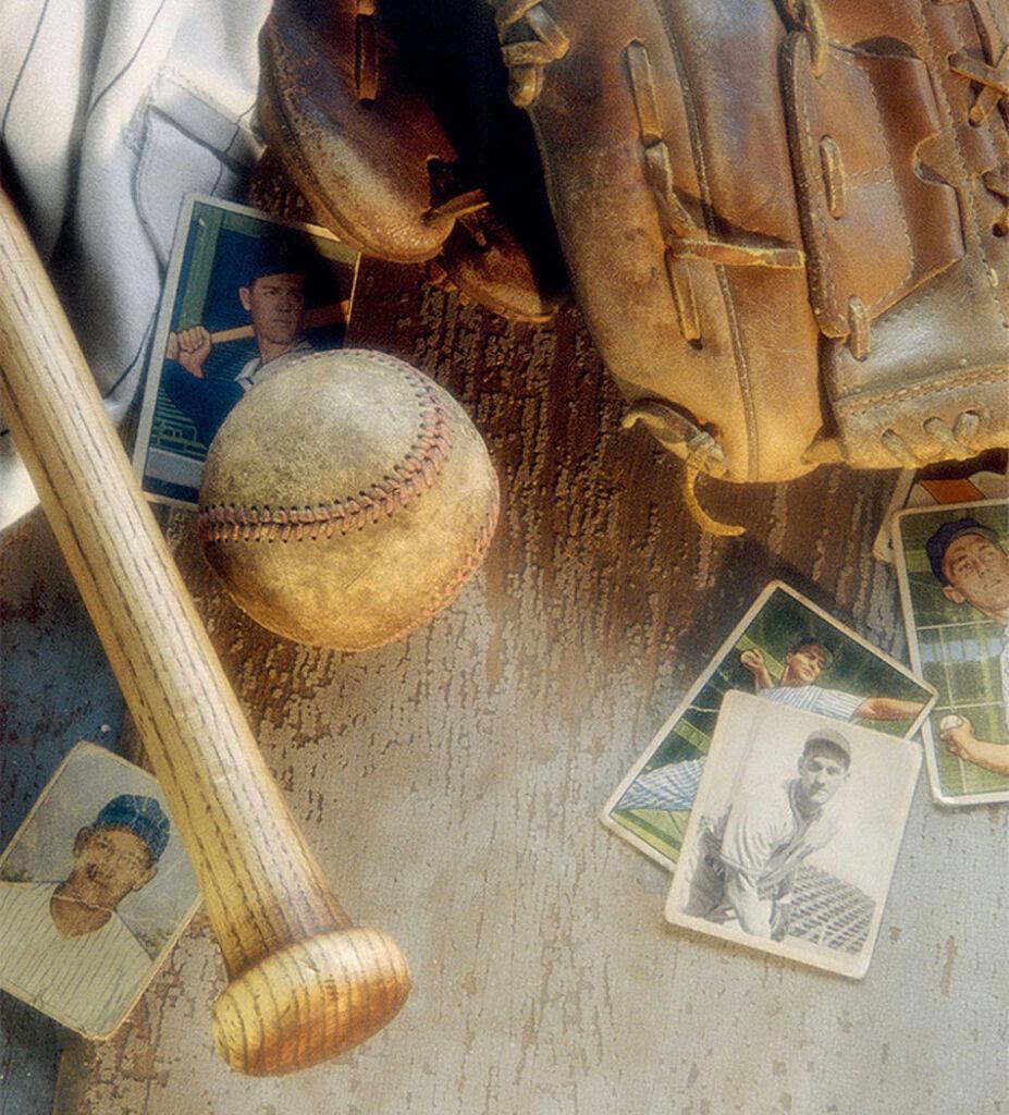 A collection ot vintage baseball memorabilia and cards