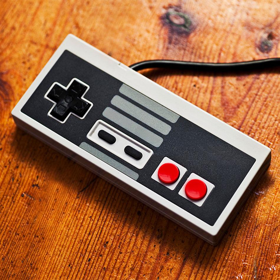 A vintage Super Nintendo controller