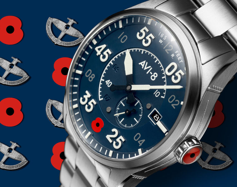 Avi-8's Spitfire Type 300 Automatic Celebrates The Royal British Legion's Centenary
