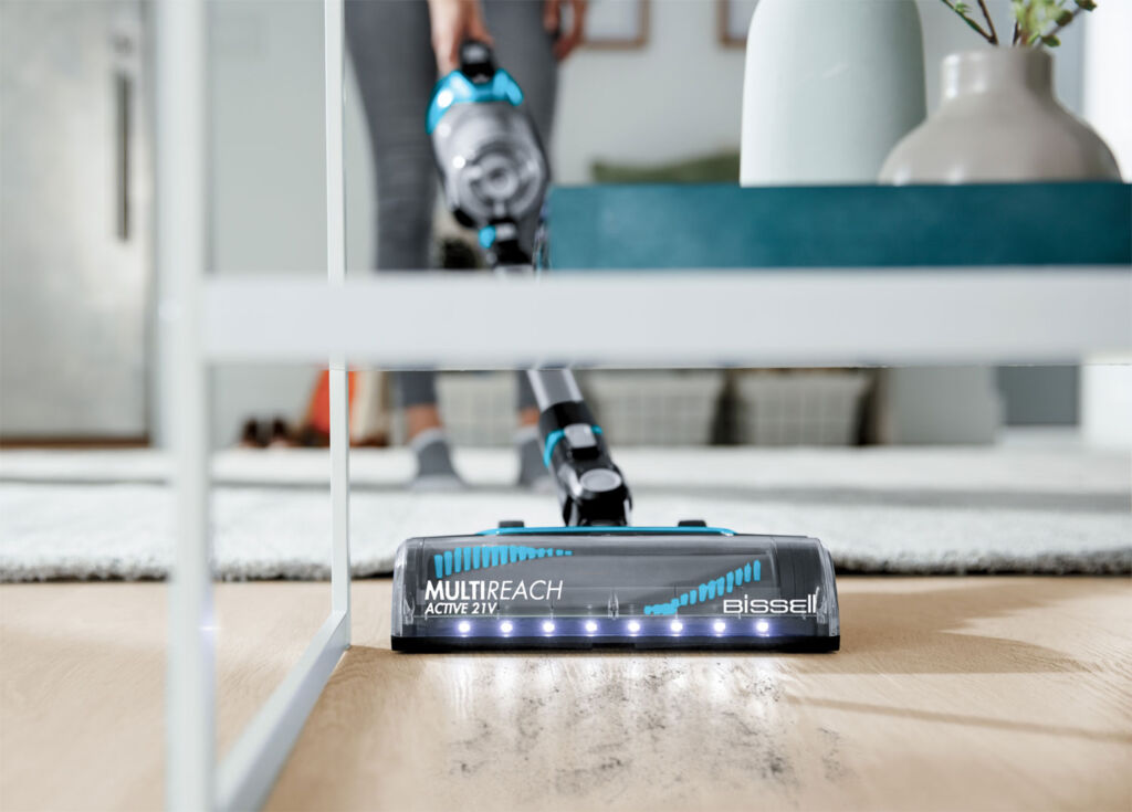Bissell's MultiReach Active 21V has LED lights built into the head making cleaning darker areas simple