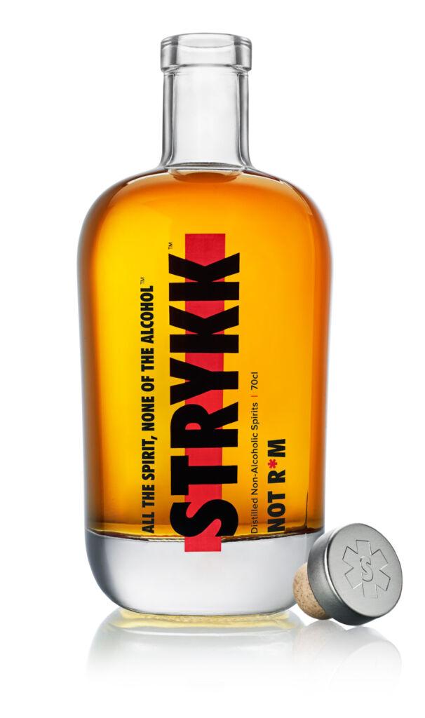 Bottle of STRYKK NOT RUM