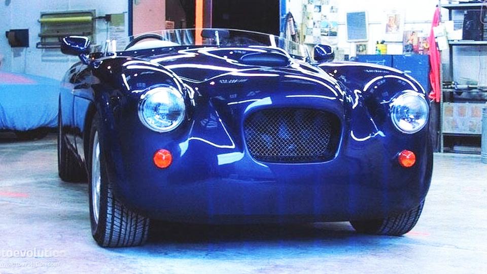 A Bristol Speedster in blue