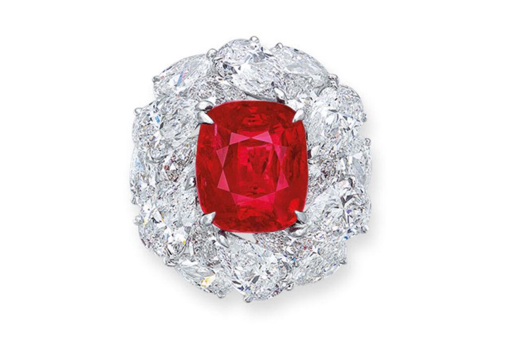 Burmese 'Pigeon's Blood' ruby ring of 6.04 carat