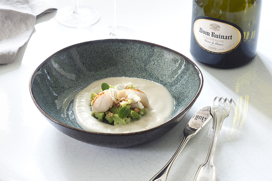 A tasty dish suggestion for pairing with the champagne