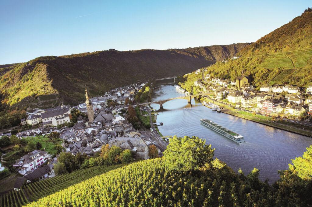 River cruising through a valley