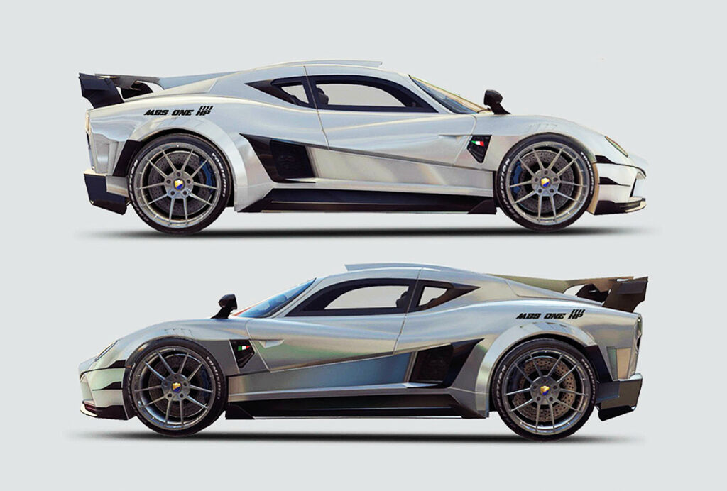 Side views of the Evantra MBS ONE 1111 HP