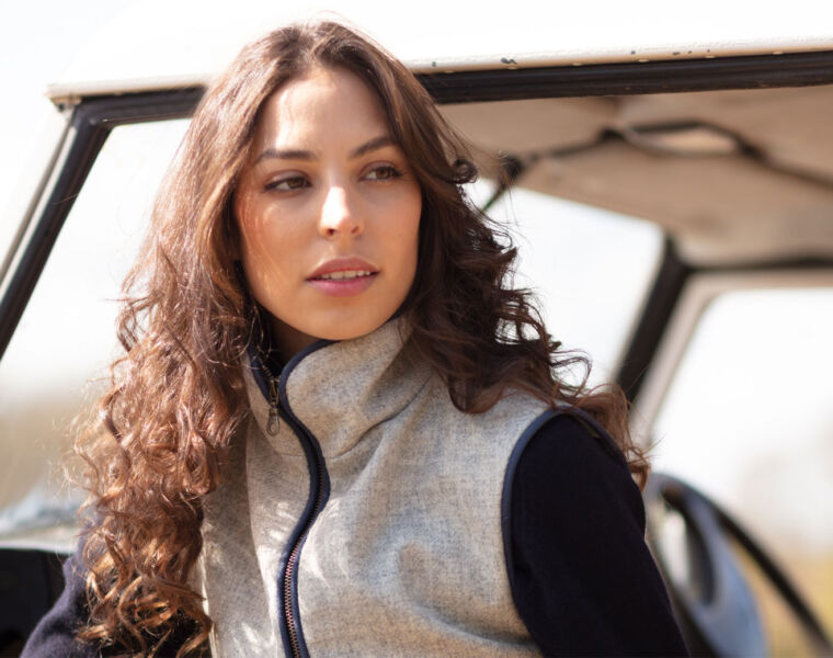 Frimble Launches Beautiful New Tweed Fitted Ladies Waistcoat