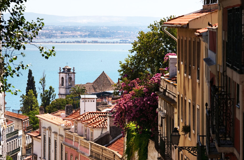 The historic streets of Lisbon