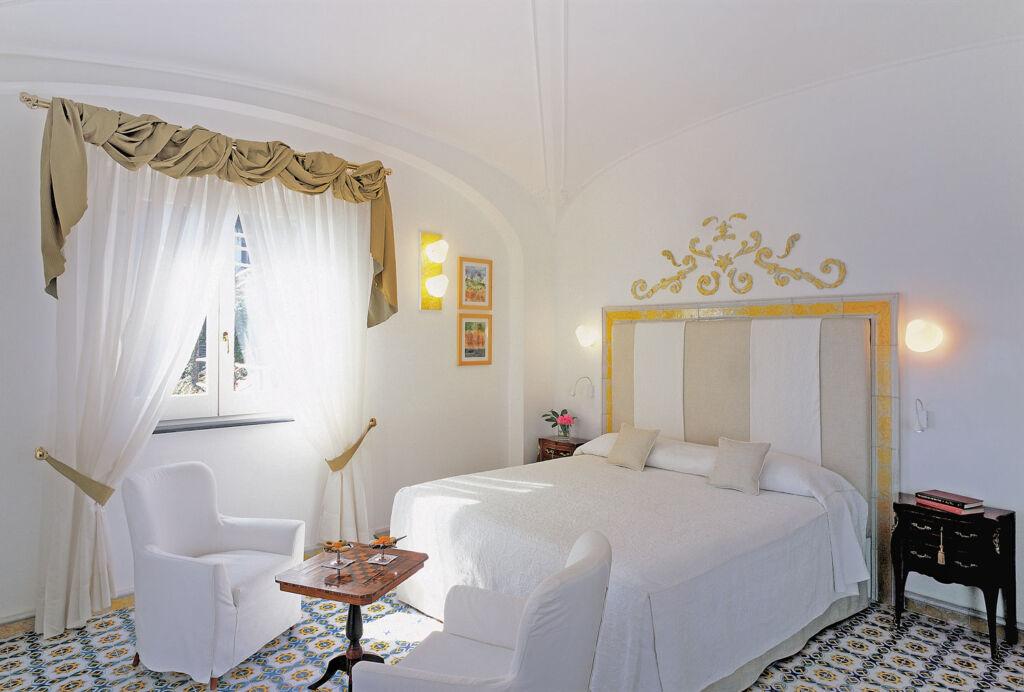 Inside one of the luxury bedroom suites