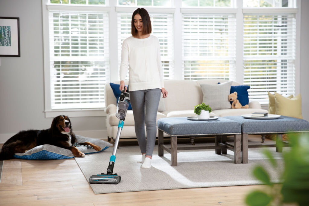 We found the cordless vacuum excellent for picking up hair thanks to its special brush head design