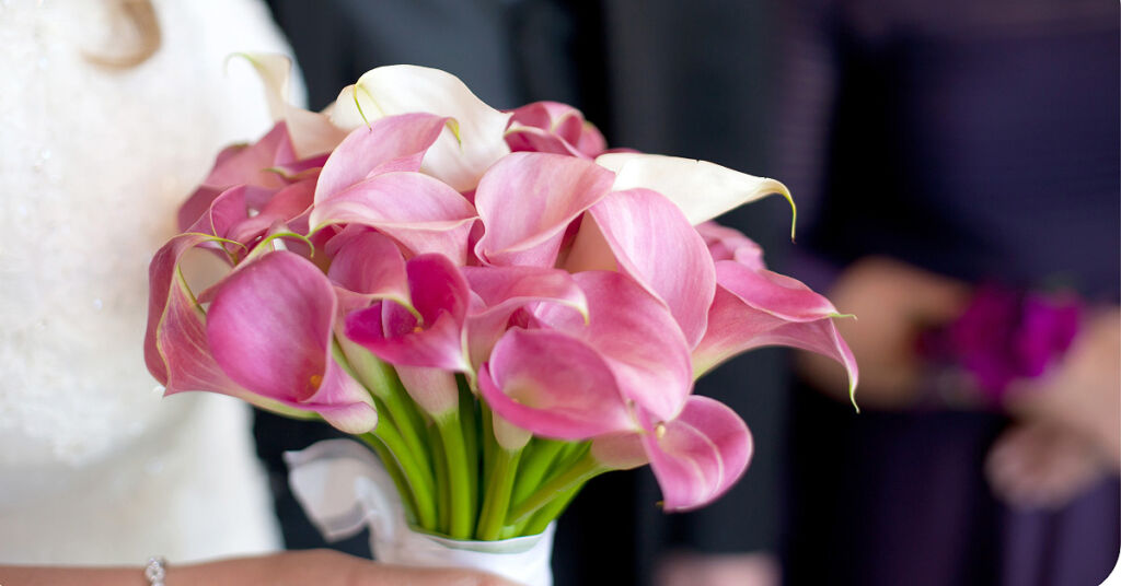A woman holding some freshly cut flowers