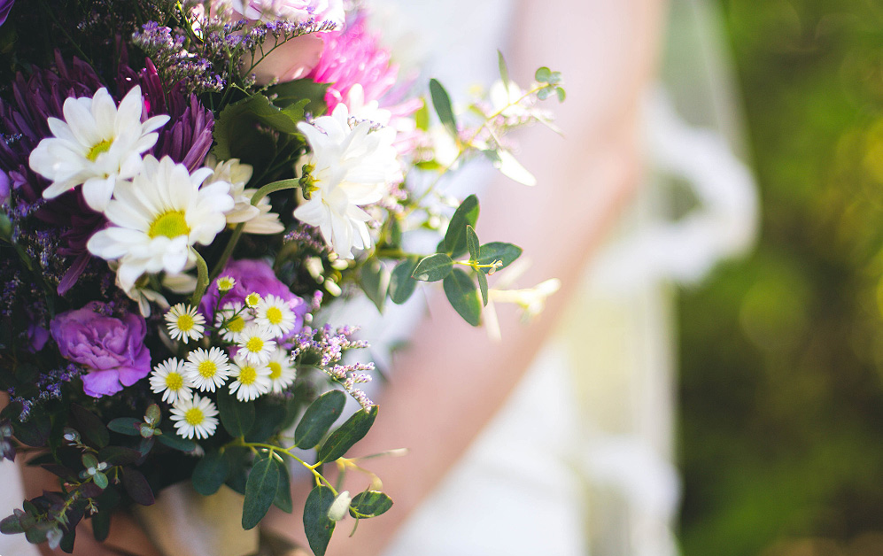 A beautiful bouquet made from fresh home-grown flowers